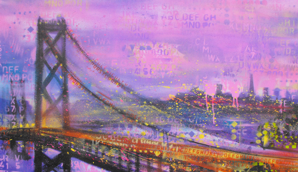 Bay Bridge Purple