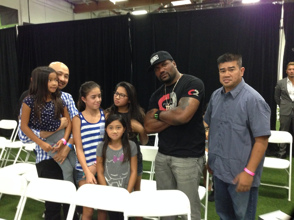 Quinton rampage Jackson and the family
