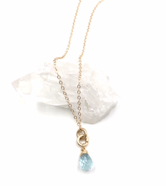 gold aqua marine drop in ct m aquamarine pear necklace pendant white
