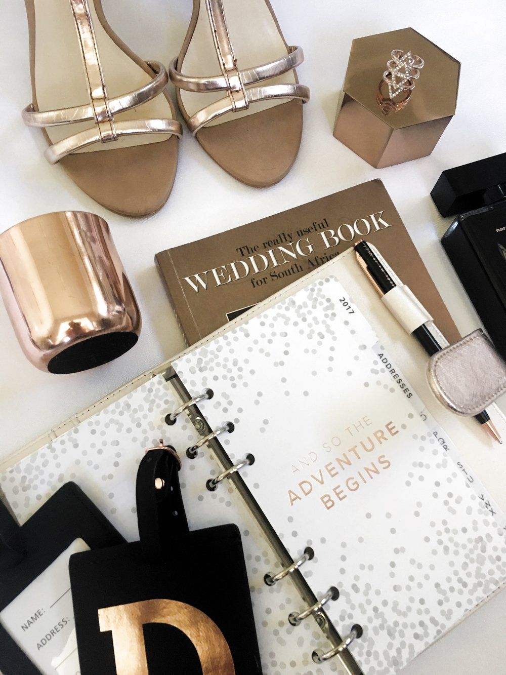 bride and bridesmaid styling