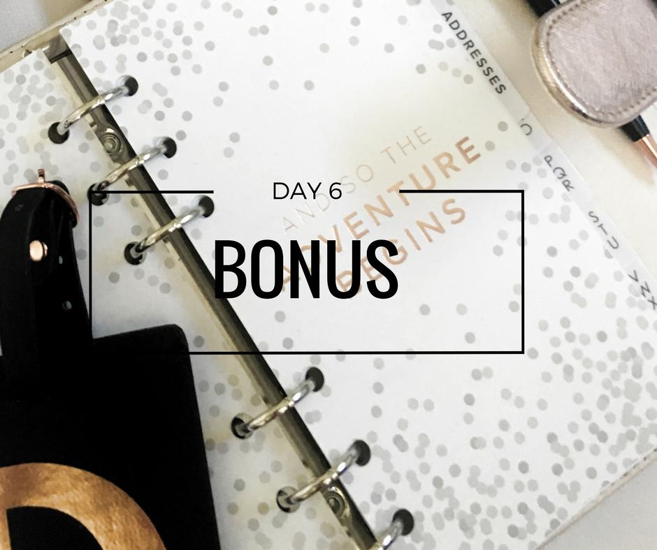 Day 6 Bonus