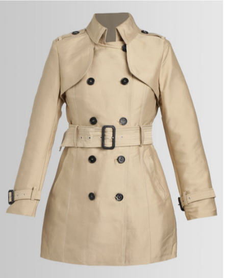 ASSUILI CLASSIC TRENCH COAT LIGHT BEIGE