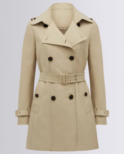 FOREVER NEW ROSIE MAC COAT BEIGE