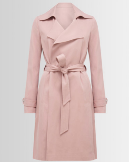 FOREVER NEW KIM TRENCH COAT BLUSH