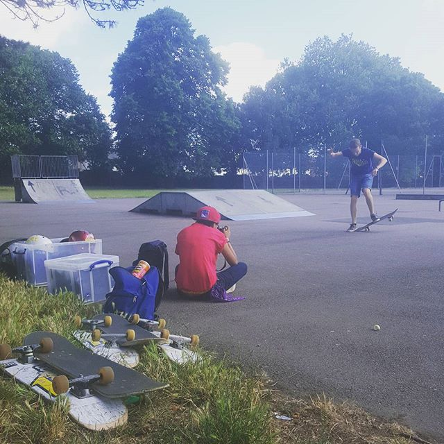 Today we're here at Mellows Skatepark till 1pm, come down the sun is shining!