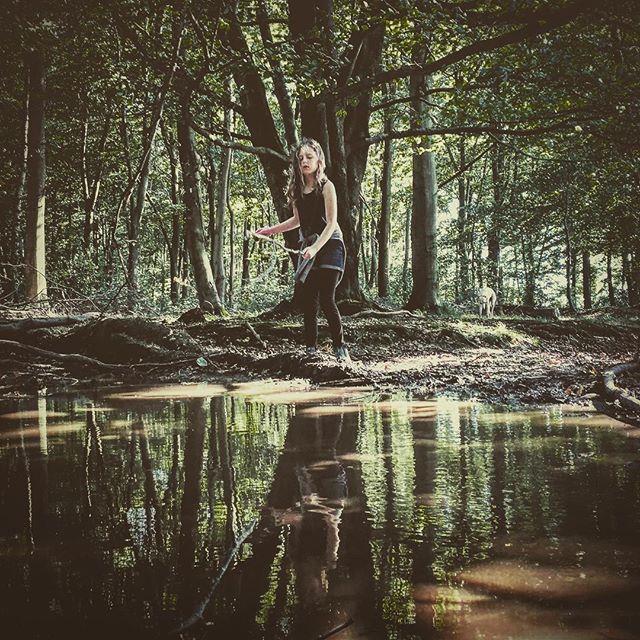 #reflecting in the #woods ☺️ _________________________________ #gooutside#intothewoods#letthekids#reflection#muddypuddles#nothingisordinary#rsa_nature #rsa_rural #rsa_reflections #ig_countryside#shotoniphone
