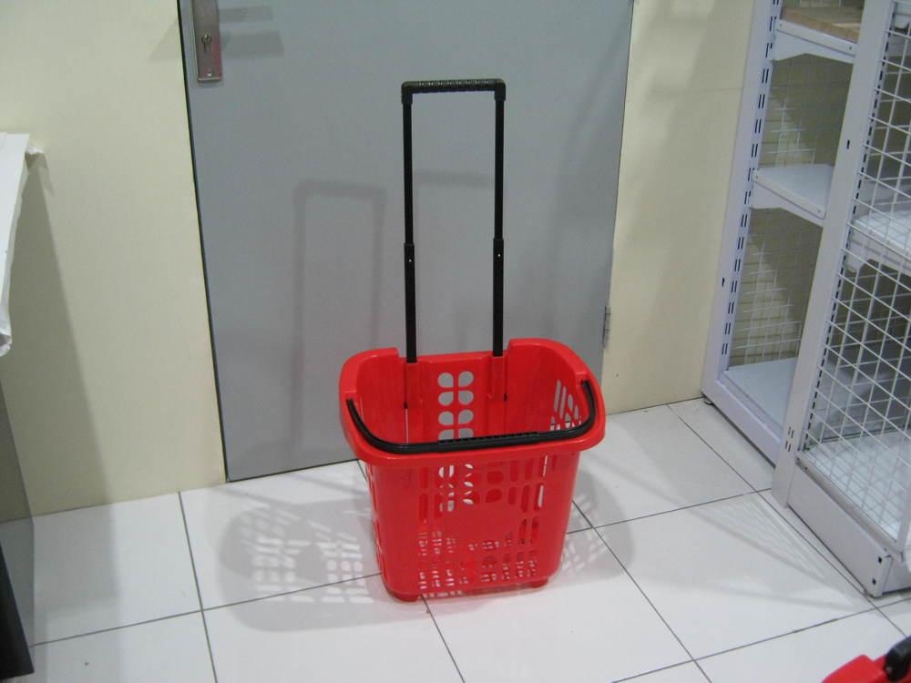 Keranjang plastik + roda (Rolling Basket)