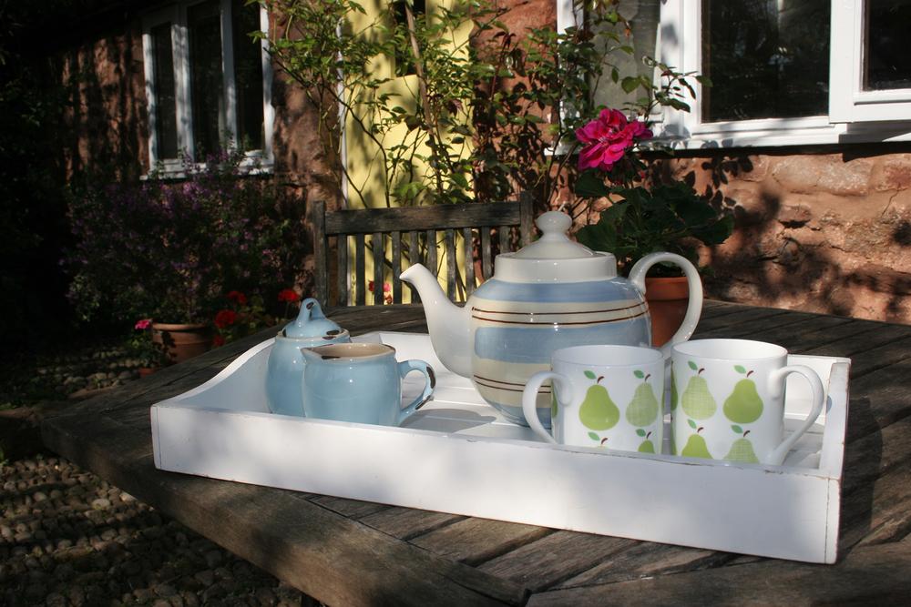Enjoy tea in the garden