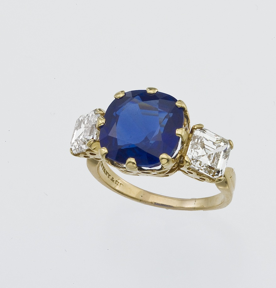 Tiffany & Co Kashmir sapphire and diamond ring circa 1910 (photo courtesy of Pat Saling New York)