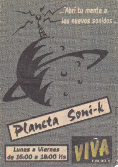 """PLANETA SONI-K"" Newspaper ad."