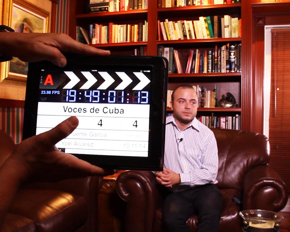 """Ángel Carromero durante la entrevista con """"Voces De Cuba"""""""