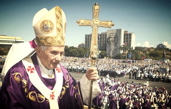 SS. Benedicto XVI en su visita a Cuba en 2012.