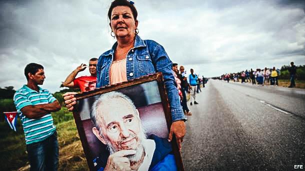 Caravana con las cenizas de Fidel Castro