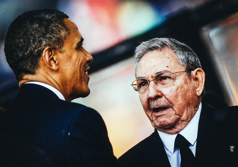 Presidente Obama junto a Raúl Castro. Foto NBC