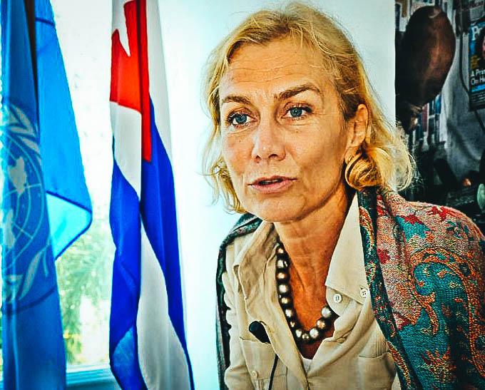 Myrta Kaulard, coordinadora de la ONU.