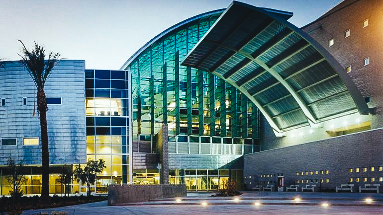 Vista de la Universidad de Nevada en Las Vegas, NV USA