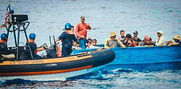 Desde el mes de enero pasado no se producía una interceptación de inmigrantes en el mar de la Florida. (CORTESÍA)