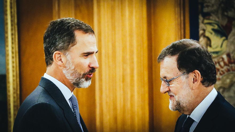 El rey Felipe VI y el presidente del Gobierno, Mariano Rajoy.