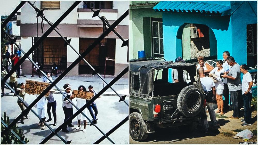 Detalles de arrestos Damas de Blanco en La Habana y Matanzas. Cortesía: A. Moya e Iván H. Carrillo.