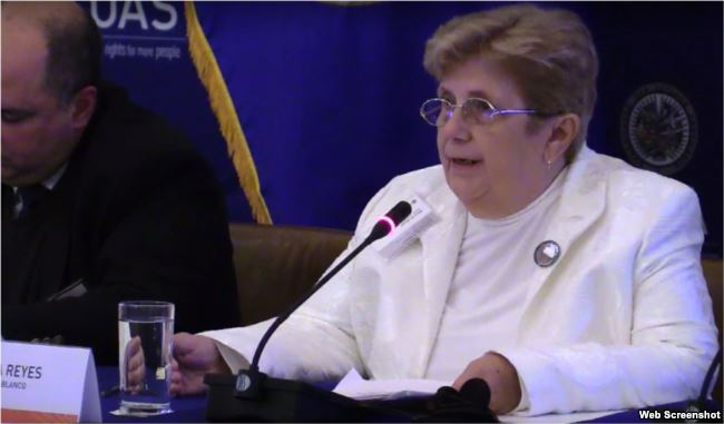 Blanca Reyes, representante de las Dama de Blanco en EEUU.