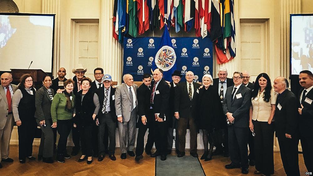 Participantes en la conferencia de la OEA sobre la situación de los derechos humanos en Cuba.