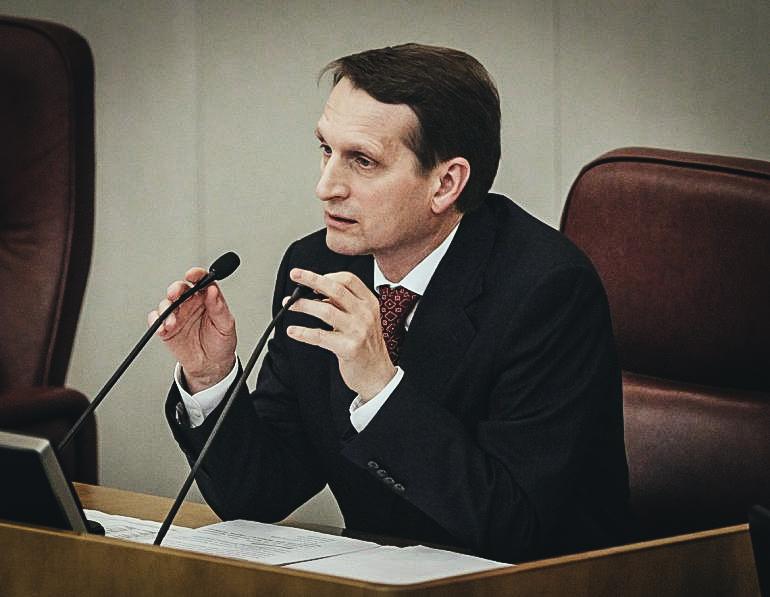 El director del Servicio de Inteligencia Exterior de Rusia (SVR), Serguéi Narishkin. EFE/ARCHIVO