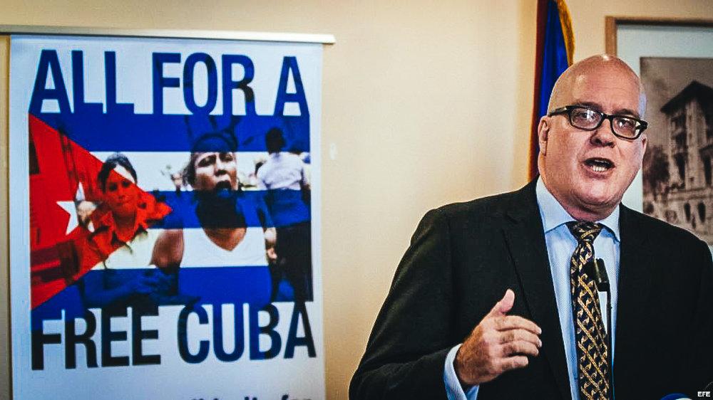 El líder del Directorio Democrático Cubano, Orlando Gutiérrez.