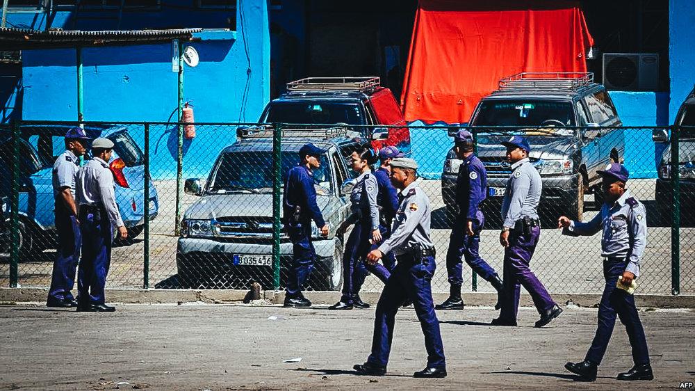 Policías en Cuba.