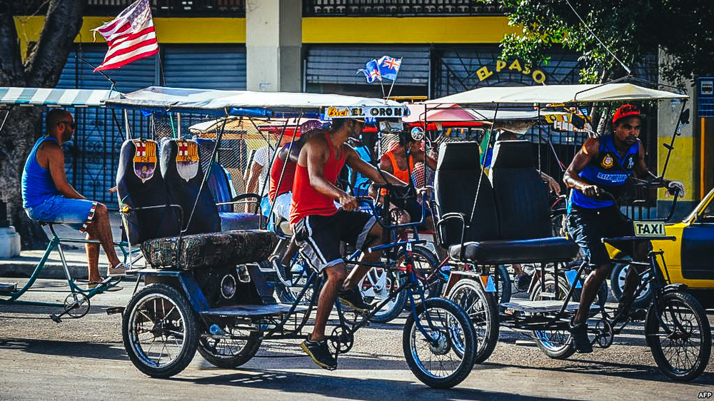Bicitaxis en La Habana.