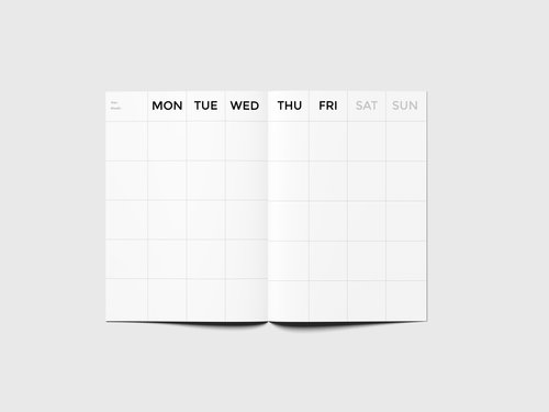 monthly planner timeless big octÀgon