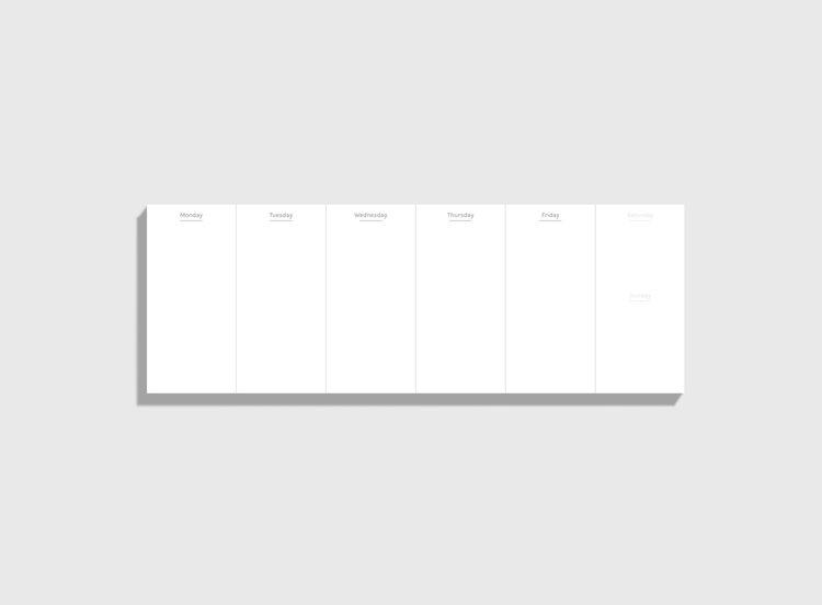 desk weekly planner perpetual