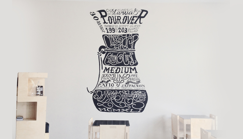 Chemex mural commissioned at Brown Coffee Co.