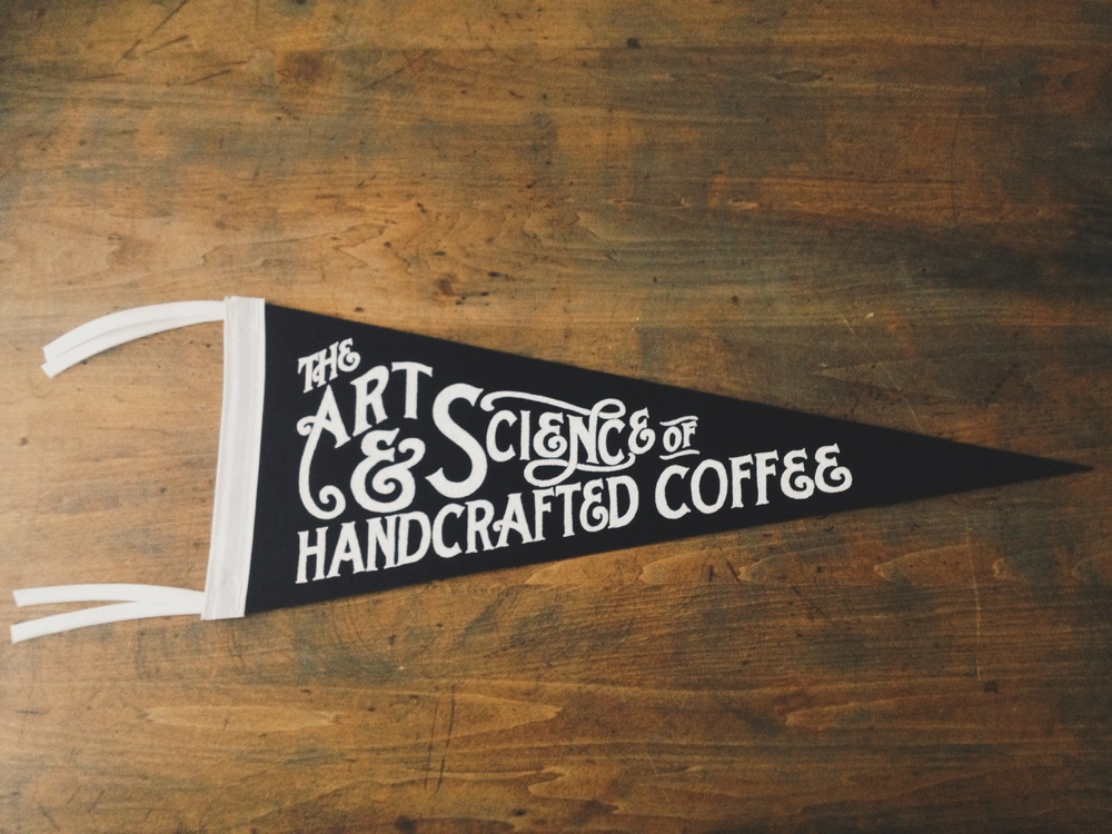 Screenprinted Wool Pennant 9x24