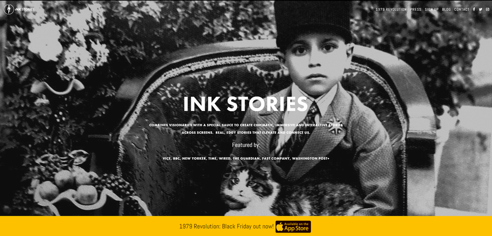Home Page for iNK Stories