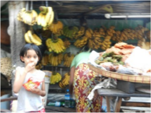 (Street market near where we stayed)