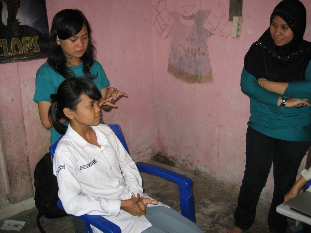 Girls in the community that expressed an interest in working on the project
