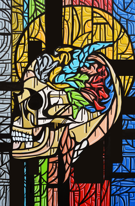 Brainwash 2014 Acrylic on canvas. 120 x 80 cm. © Tom Herck