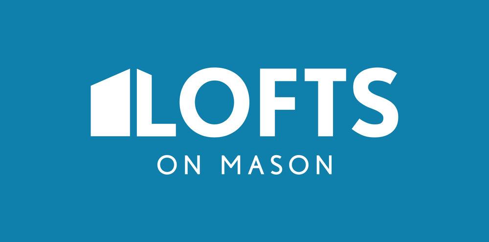 Lofts On Mason White Logo