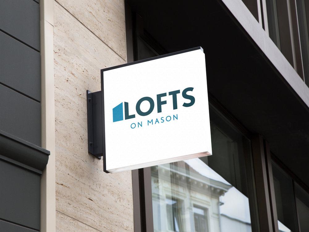 Lofts On Mason Signage
