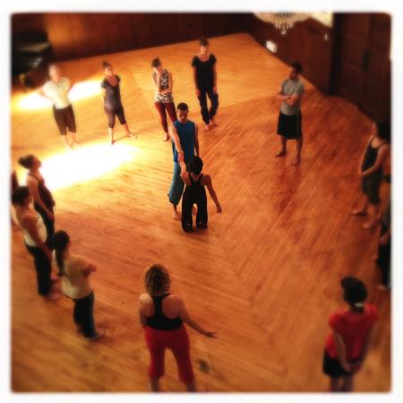 Class at FleetMoves Dance Festival, photo credit Zena Bibler