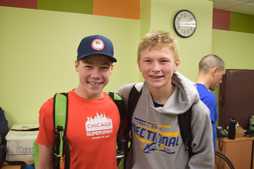 Jack O'Neil & Owen Cravens at Dare2tri's Elite Team Camp
