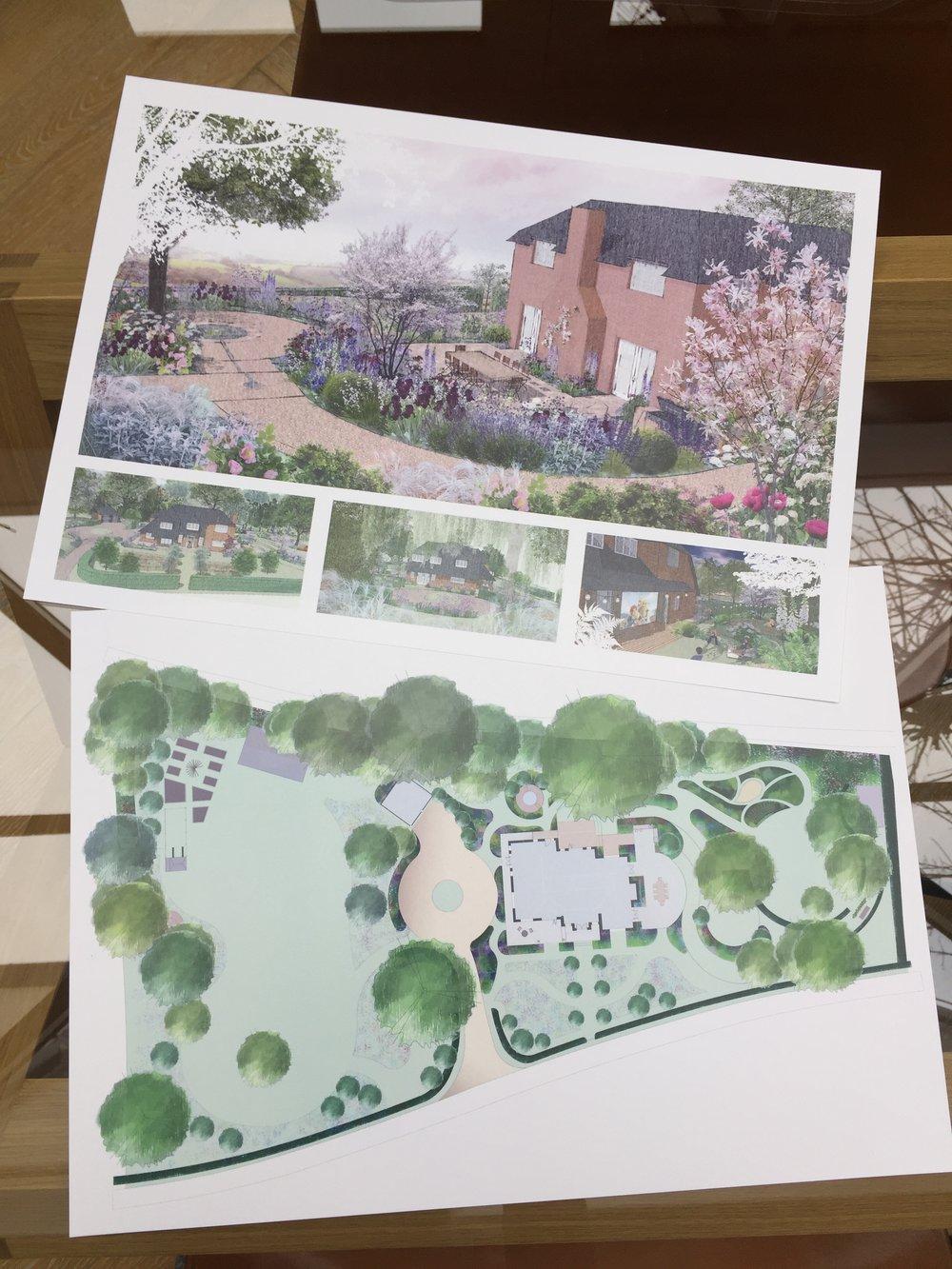Concept design for Hampshire country garden