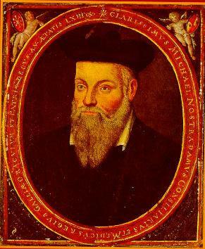 Portrait of Michel de Nostredame (Nostradamus), a French Renaissance Medicine & Astrologer, painted by his son César de Nostredame