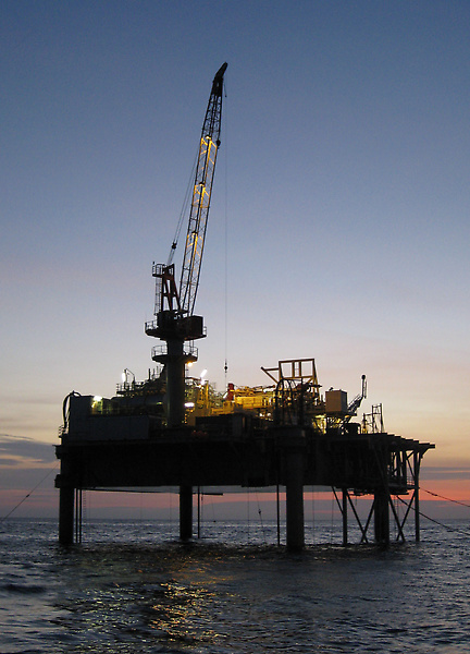 Perenco's Emeraude MOAB platform, Congo, Courtesy of and © Overdick GmbH & Co KG
