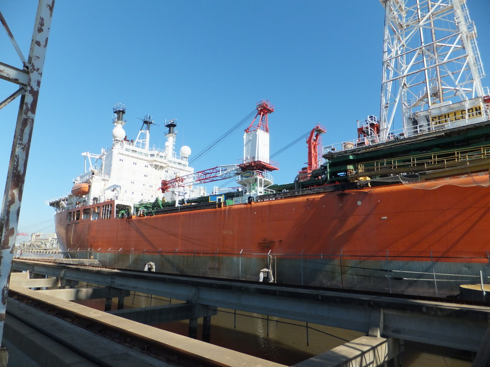 The Seillean at berth in Alabama © and courtesy of David Cooke