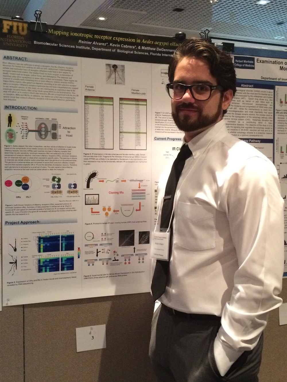 Reinier with his poster