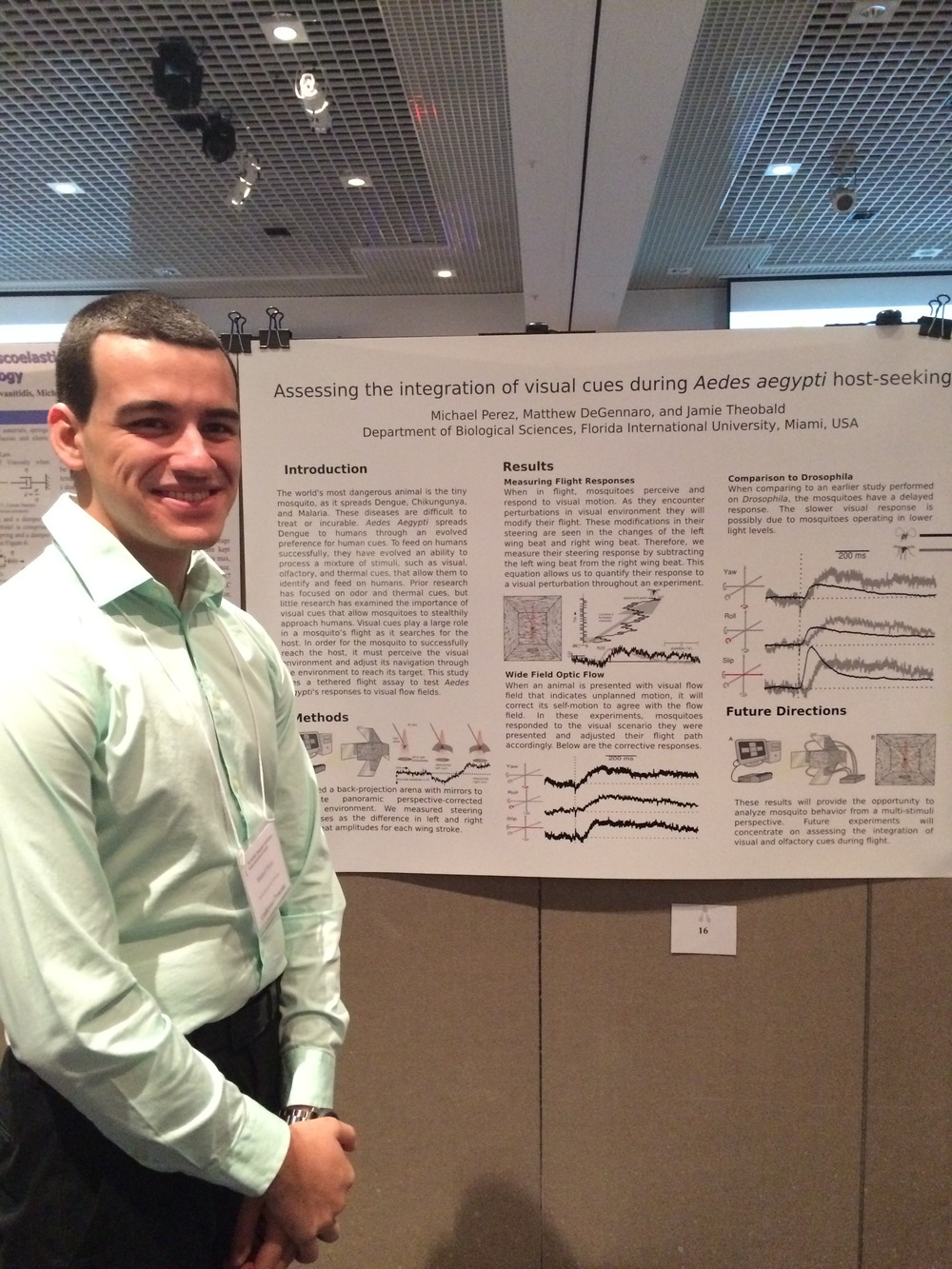Michael Perez presents his poster. He also gave an excellent talk!