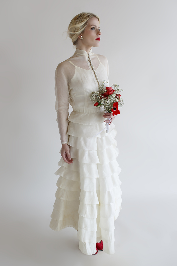 1930s Vintage Wedding Gown