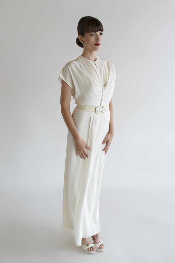 1940s Du Berry Wedding Dress