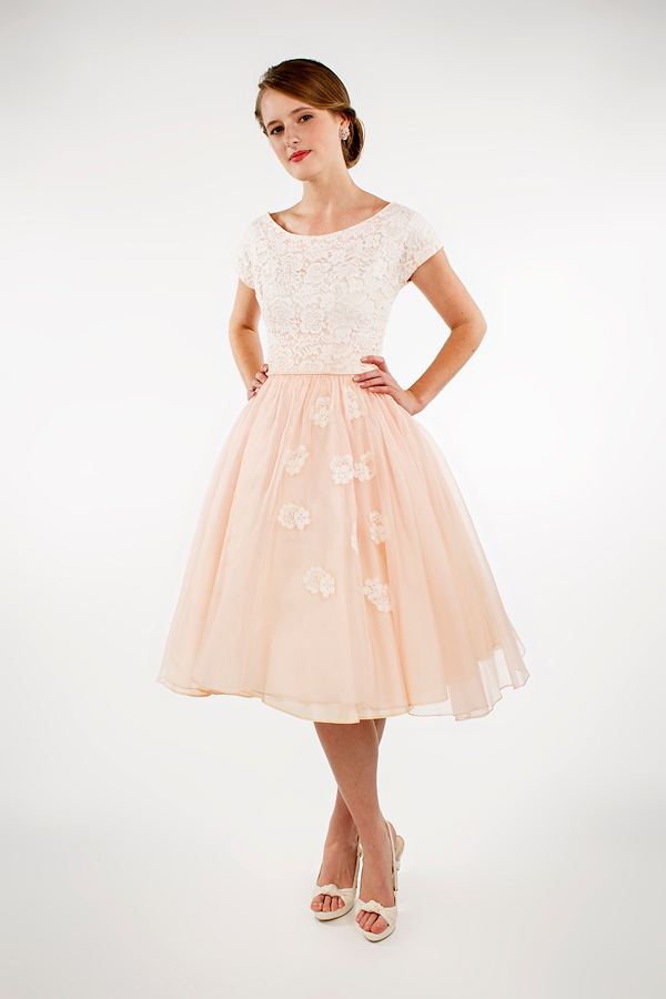1950s Pink Party Dress